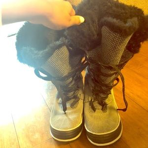 Sorel suede and fur winter boots
